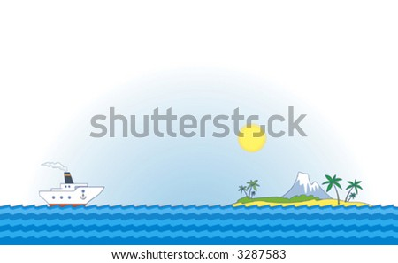 Sea cruise – Vector illustration