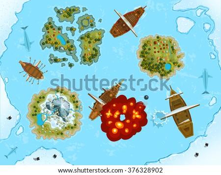 sea decorations vector design