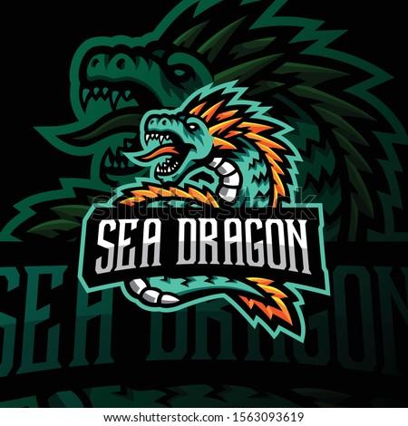 sea dragon mascot logo esport