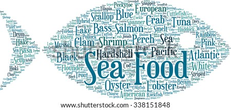 sea food concept word cloud