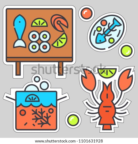 sea food two sticker