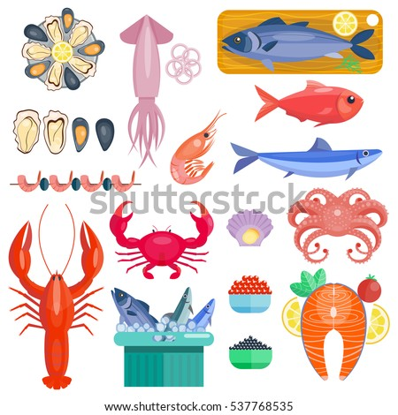 sea food vector illustration