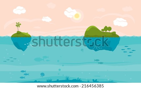 sea game background with