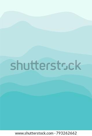 sea green shades abstract