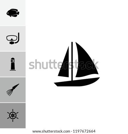 sea icon collection of 6 sea