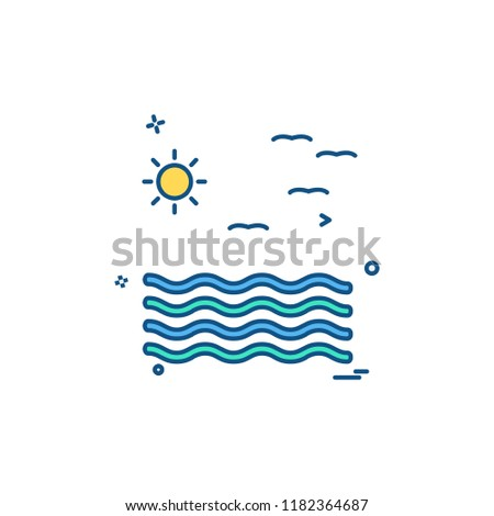 Sea icon design vector