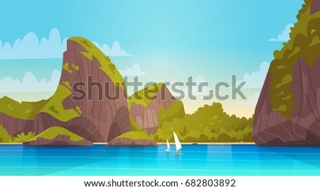sea landscape beautiful asian