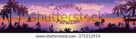 sea landscape  silhouettes