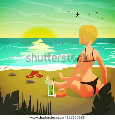 sea landscape summer beach  a