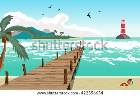 sea landscape summer beach