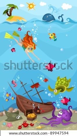 Stock Photo sea life
