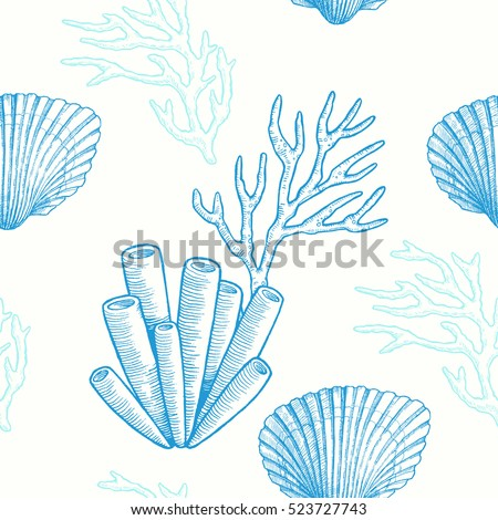 sea life vector hand drawn