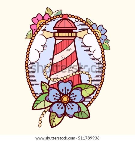 sea lifebuoy with flowers