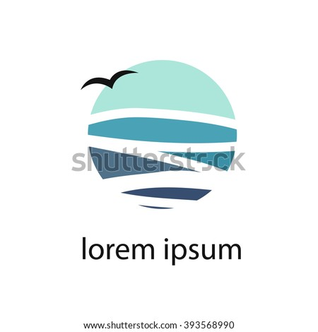 sea (ocean). logo design. vector illustration