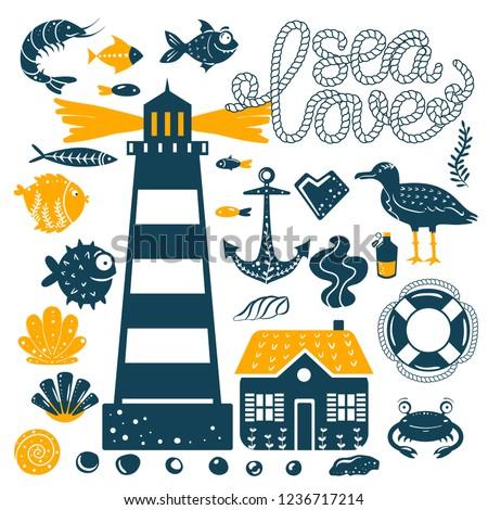 sea ocean simple styling print