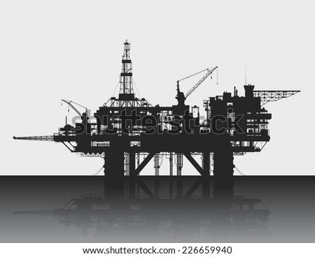 sea oil rig oil platform in