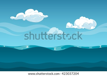 sea or ocean cartoon landscape