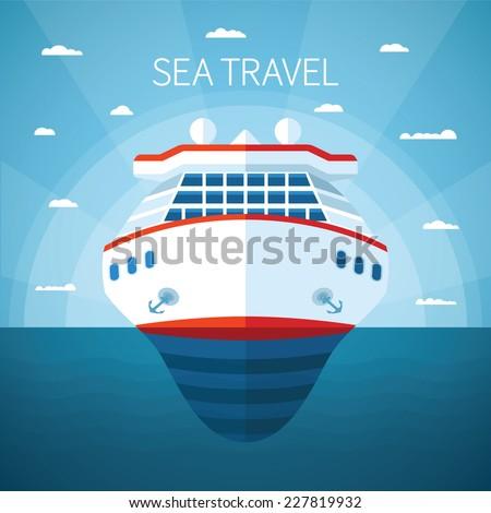 sea or ocean cruise vector