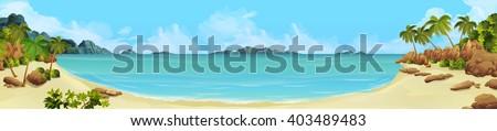 sea panorama bay  tropical