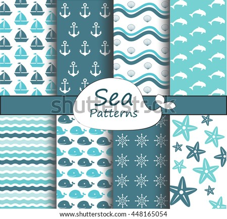 sea patterns collection