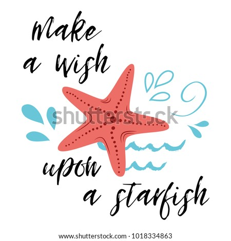 sea poster with fish phrase