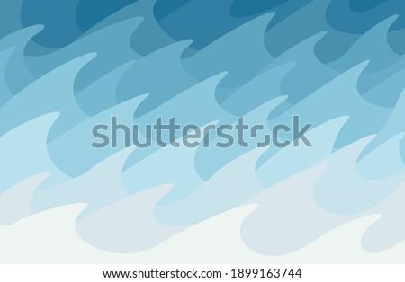 sea raging vector background