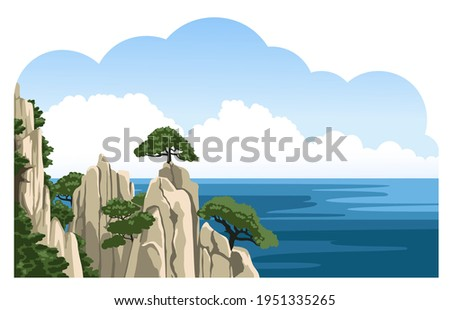 sea rock with a tree on top