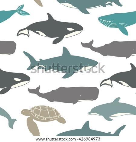 sea seamless pattern great
