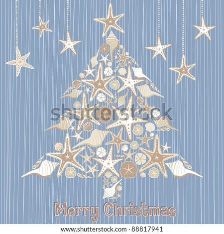 sea shell christmas tree for a