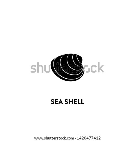 sea shell icon vector. sea shell sign on white background. sea shell icon for web and app
