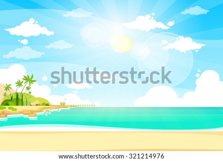 sea shore sand beach summer