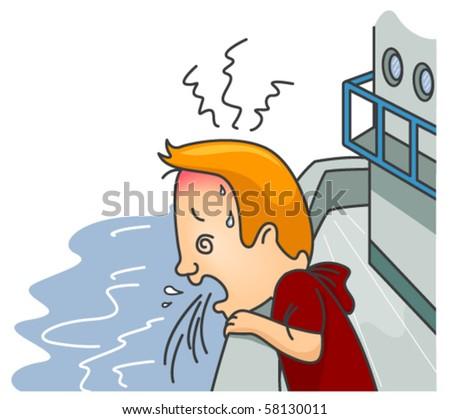 Sea Sickness-  Vector