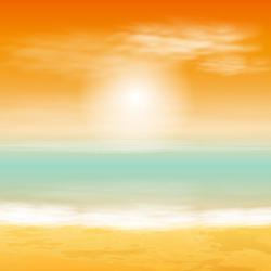 Sea sunset. EPS10 vector.