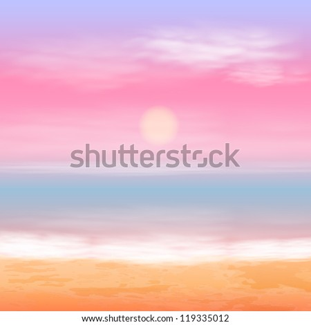 sea sunset eps10 vector