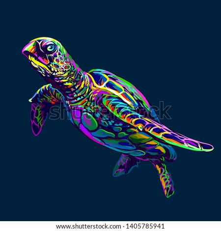 sea turtle abstract  artistic