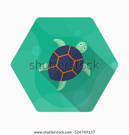 sea turtle  icon  vector flat
