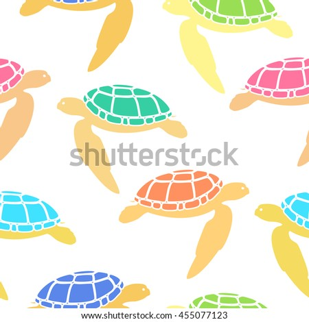 sea turtle seamless pattern
