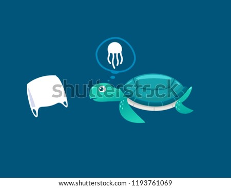 sea turtles see plastic bags as