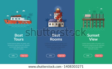sea vacation vertical banners