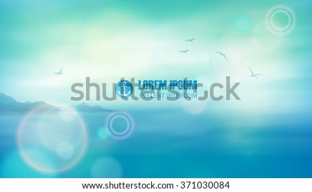 sea vector background calm and