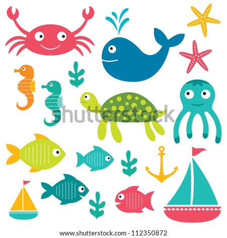 sea vector elements