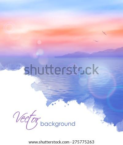 sea vector watercolor