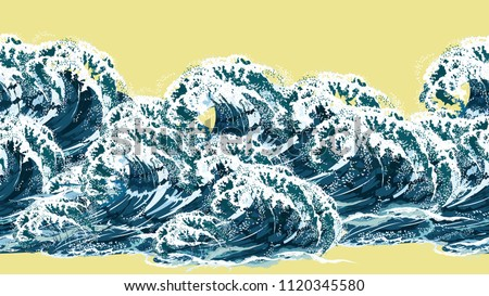 sea wave horizontal seamless