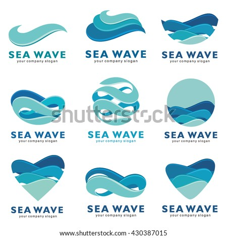 sea wave logo vector concept
