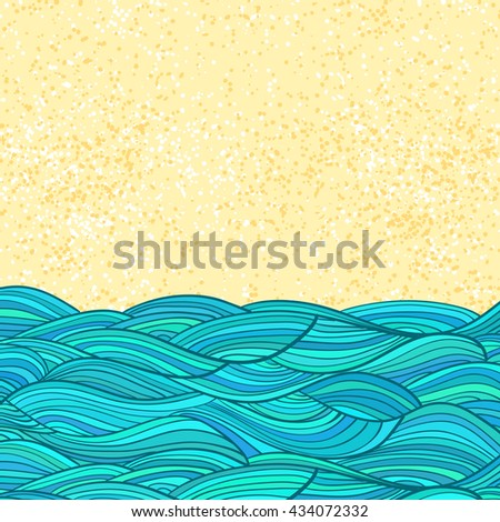sea waves and sand abstract