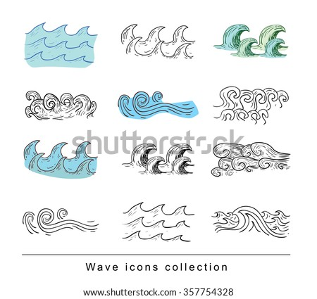 sea waves  illustration vector