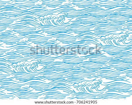 sea waves japanese style