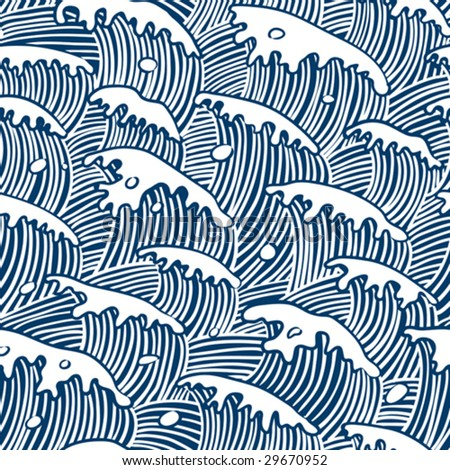 sea waves vector seamless