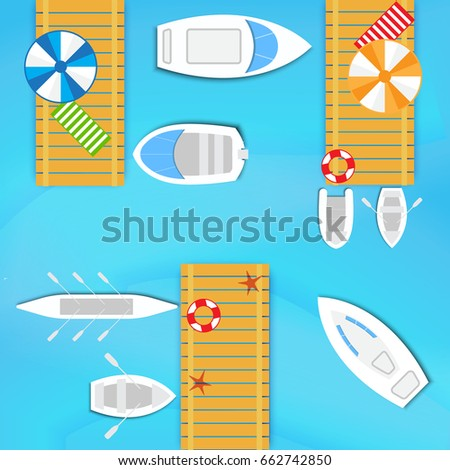 sea wooden pier for boats and