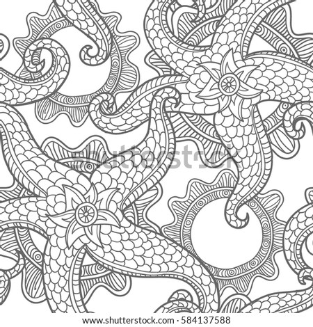 seabed illustration. vector...